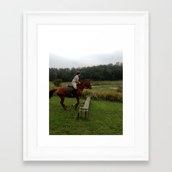 3, 2, 1, Jump! Framed Art Print