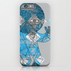mesmerized by the light blue diamond Slim Case iPhone 6s