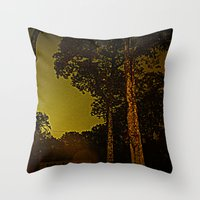 Blackened October Sunfal… Throw Pillow