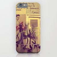 iPhone & iPod Case featuring French Graffiti, Paris-2 by shari hochberg