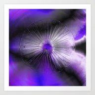 Eye Purple Art Print