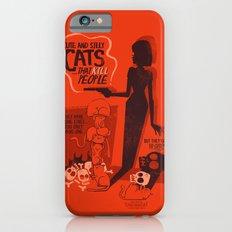 Cat Movie - orange iPhone 6 Slim Case