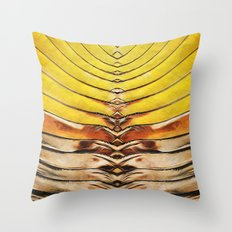 Palm Frond Leaf Macro Throw Pillow