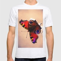 Peacock Mens Fitted Tee Ash Grey SMALL