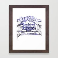 These Mountains Mend  Framed Art Print