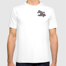 lullaby White SMALL Mens Fitted Tee