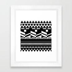 Graphic_Black&white #2 Framed Art Print