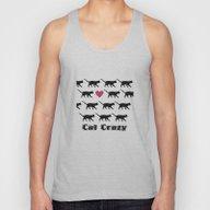 Cat Crazy Unisex Tank Top