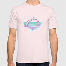 Over The Rainbow Mens Fitted Tee Light Pink SMALL