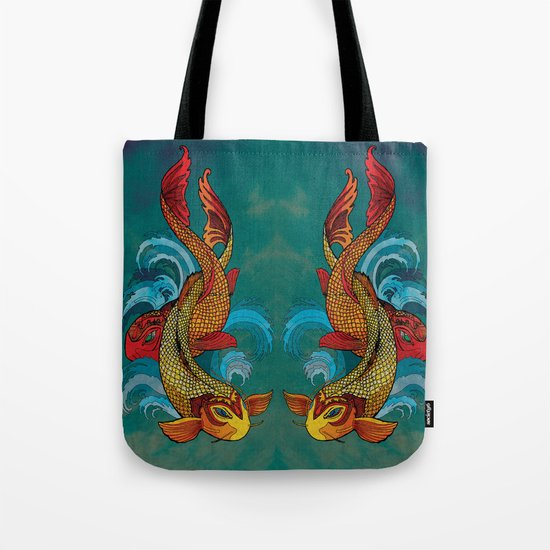 A tale of two fins. Tote Bag
