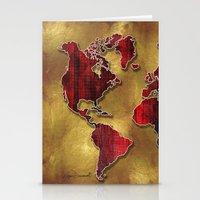 Original World Map Desig… Stationery Cards