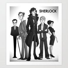 Sherlock Art Print