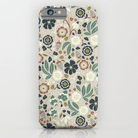 Flourishing Florals (Light-Green) iPhone 6 Slim Case