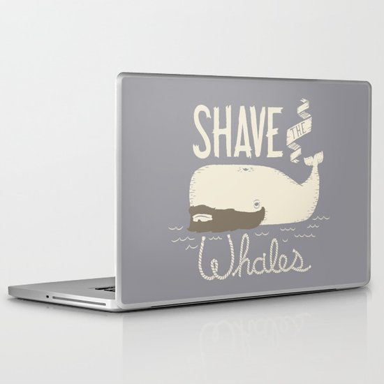 Shave the Whales Laptop & iPad Skin
