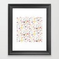 Flower Pattern 04 Framed Art Print