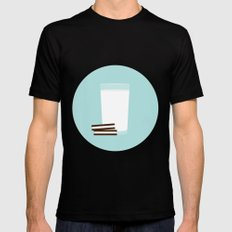 #25 Milk and Cookies SMALL Mens Fitted Tee Black