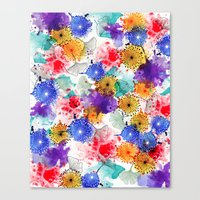 Printed Silk Exotic Gard… Canvas Print