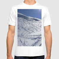 Tracks On Tincan Mens Fitted Tee White SMALL
