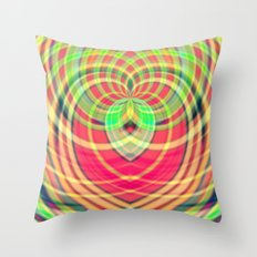 Modern Heart - Digital A… Throw Pillow
