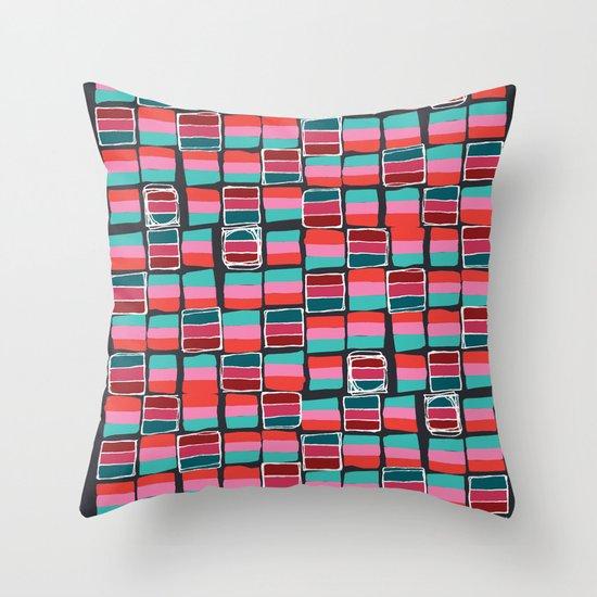 Pixel Pattern Throw Pillow
