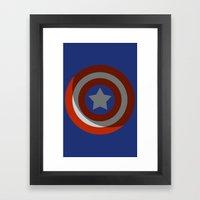 The Captains Shield Framed Art Print