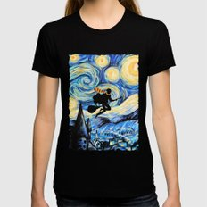 Potter Starry Night Womens Fitted Tee Black SMALL