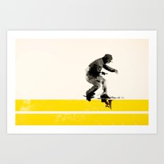 Slide On Stripes Art Print