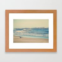Chasing Breakfast Framed Art Print
