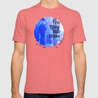 No Way No How < The NO Series (Blue) Mens Fitted Tee Pomegranate SMALL