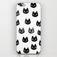 Black Cat Pattern iPhone & iPod Skin