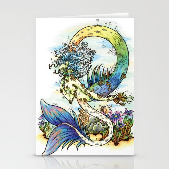 Elemental series - Water Stationery Card