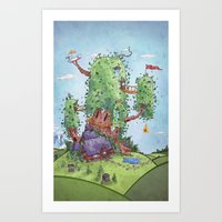 Ode to Finn and Jake Art Print