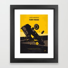No051 My Mad Max 4 Fury Road minimal movie poster Framed Art Print