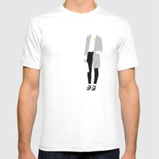 yellow spot SMALL White Mens Fitted Tee