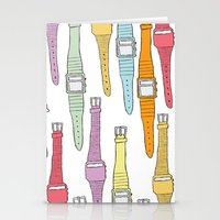 80s Digital Watches Stationery Cards