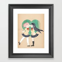 Papercraft Lovers Framed Art Print