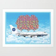 Happy Plane Art Print