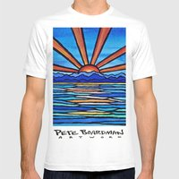 Champlain Sunset Mens Fitted Tee White SMALL