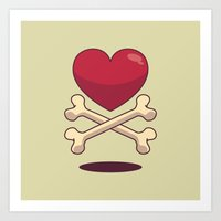 Bone Up On Love Art Print