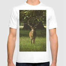 Deer SMALL White Mens Fitted Tee