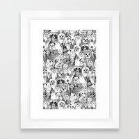 Love And Hugs Framed Art Print