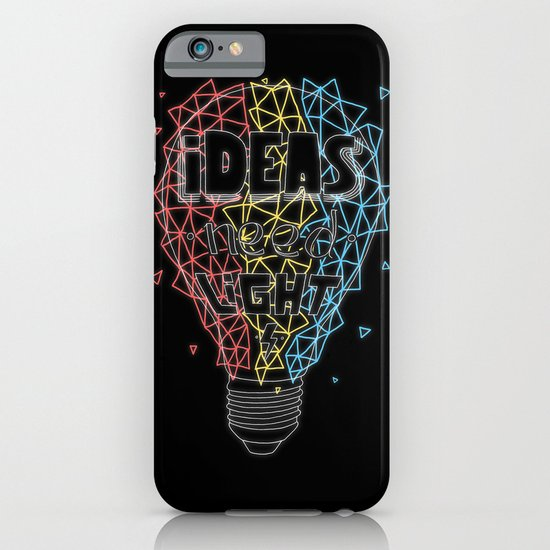 Ideas need light (black version) iPhone & iPod Case