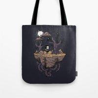 Dark Wood Tote Bag