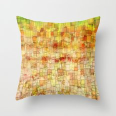 Yellow Sea Mosaic Throw Pillow
