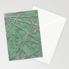Sparkle Net Mint Stationery Cards