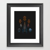 Mass Effect 2 Baddies Framed Art Print