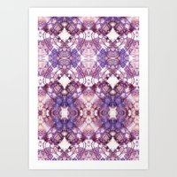 Purple Circle Art Print