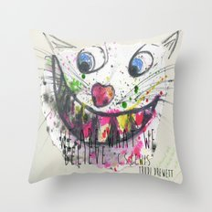 We Are What We Believe We Are Throw Pillow