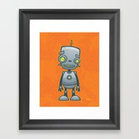 Silly Robot Framed Art Print