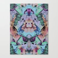 Crystal Collage Canvas Print